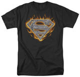 Superman - Steel Fire Shield T-shirts
