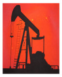 Pumping Unit Red Melissa Ryan Giclee Print by Melissa Ryan