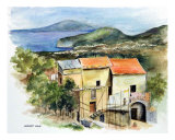 Old Farmhouse, Sorrento Italy (Vecchia Fattoria) Giclee Print by Harriet Solit