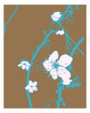 Teal N Brown Cherry Blossom Photographic Print by Estela Lugo