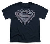 Youth: Superman - Tribal Steel Shield T-shirts