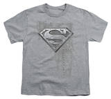 Youth: Superman - Riveted Metal Shield Shirt