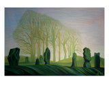 The Avenue At Day Break Giclee Print by Anna Dillon