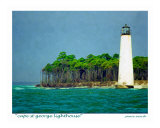 Cape St George Lighthouse, Little St George Island, Florida Photographic Print by Jamie Marsh