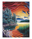 Longlac Sunset Giclee Print by Robert Davies