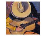 Cowboy Guitar Giclee Print by Rick Kersten