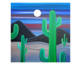 Cactus Moon Giclee Print by Jerry Clovis