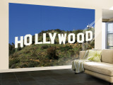Hollywood Sign at Hollywood Hills, Los Angeles, California, USA Gran mural