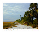 St Marks Lighthouse, St Marks, Florida Photographic Print by Jamie Marsh