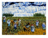 Sugar Cane Workers Giclee Print by John Hall