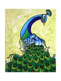 Preening Peacock Giclee Print by Megan Aroon Duncanson