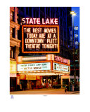 State Lake Theater Chicago Loop Alive Photographic Print by Tom Jelen