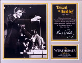Elvis and the Hound Dog Matted Print