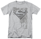 Superman - Riveted Metal Shield T-Shirt