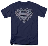 Superman - Tribal Steel Shield T-shirts