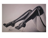 Glass Heels Giclee Print by Linda O'brien
