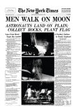 New York Times, July 21, 1969: Men Walk on Moon Giclee Print