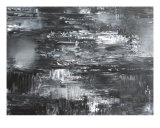 Reflections: Black-Silver Giclee Print by Andrea Mulder-slater