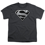 Youth: Superman - Super Metallic Shield T-shirts