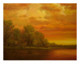 Mississippi River Sunset Giclee Print by Jerrie Glasper