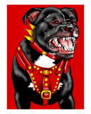 Pitbull Dog Portrait Photographic Print by Gerasimoula O. Papadopoulos