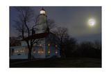 Sandy Hook Lighthouse With Full Moon Photographic Print by George Oze