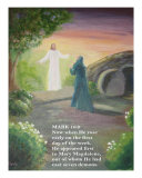 Resurrection Morning, Mark 16:9 Giclee Print by Maria Athanasiou