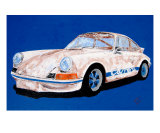 1973 Porsche 911 Carrera Rs Giclee Print by Benjamin Walker