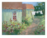 Garden Path Oil Painting By Joyce Hicks Giclee Print by Joyce Hicks