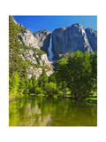 Yosemite Falls With The Merced River Photographic Print by George Oze