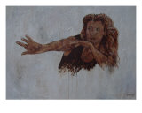 Cave Woman Giclee Print by Willem Van Den Belt