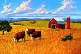 Colorado Farm In Late Summer Prints by Patty Baker