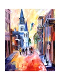 Misty Morning On Chartres Street Giclee Print by Diane Millsap