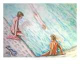 At The Pool Giclee Print by Joe Correll