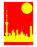 Shanghai Sunshine Photographic Print by Asbjorn Lonvig