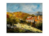 Village In Provence Giclee Print by Ledent