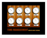 Business-Management: Time Management Photographic Print by Andrew Schwartz