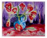 Tulip Tango Giclee Print by Janette Dengo