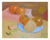 Honey Tangerines From Back Yard Giclee Print by Thi Nguyen