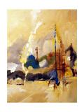 Wharf Giclee Print by Ruth Palmer