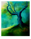 Light On A Dead Tree Giclee Print by Veronique Radelet