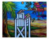 Life Guard In Jamaica Giclee Print by Patti Schermerhorn