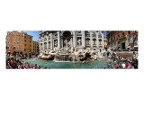Panoramic View Of The Trevi Fountain, Rome Photographic Print by Doug Rosenberg