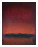 Red Horizon Glow Giclee Print by Kristen Stein