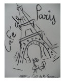 France Je T Aime Giclee Print by Corinne Ertle