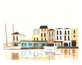 Greek Seaport Giclee Print by Scott Shiffer
