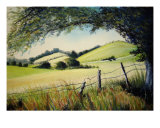 Summer Landscape Giclee Print by Veronique Radelet
