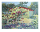 Climbing Roses In Texas By Joyce Hicks Giclee Print by Joyce Hicks