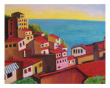 Red Roofs Giclee Print by Michael Forzato