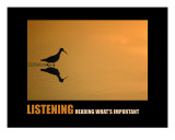 Business-Management: Listening Photographic Print by Andrew Schwartz
